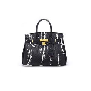 2018 Lüks Timsah Desen Tasarımcı Çanta Ünlü Marka Kadınlar Hakiki Deri Çanta Omuz Çantası Lady Büyük Kapasiteli Çalışma Tote El Çantaları