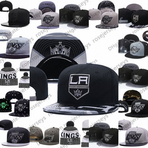 Los Angeles Kings Eishockey Knit Beanies Stickerei Adjustable Hut Bestickte Snapback Caps Schwarz, Grau, Weiß genähtes Mützen One Size
