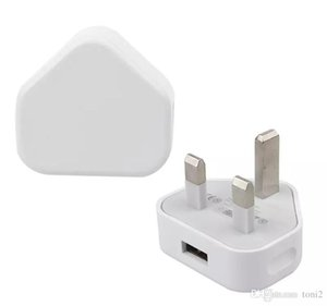 Adattatore per presa di corrente UK 3 pin Adattatore per presa di corrente USB 5V 1A UK per Iphone 5S 6 6S 7Plus Per Samsung S6 S7 Tablet universale di alta qualità JBD-UK