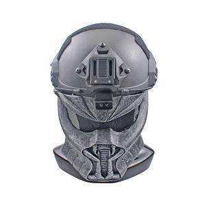 Airsoft tactique FRP masque paintball accessoires chasse hommes protecteurs demi visage Monster MASK pour masque rapide masque Alien
