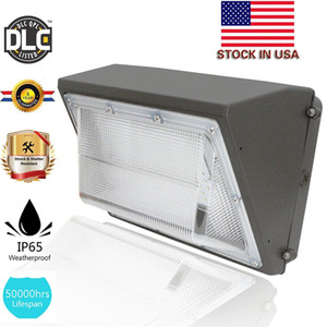 UL DLC توافق في الهواء الطلق الصمام الجدار ضوء حزمة 100W 120W جدار جبل إضاءة LED الصناعية ضوء النهار 5000K AC 90-277V مع سائق حسنا يعني