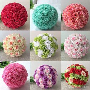 Flor Artificial Rose Ball Mercado Decorações De Natal Loja Loja de Jóias Ornamento De Plástico Flores Bolas Falso Plantas Muitas Cores 65pb3 ZZ