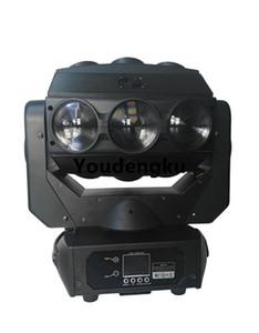 8pcs / lot 360 degrés rotation lumière 9x10w led faisceau tête mobile lumière rgbw 4 en 1 DJ led tête mobile spider faisceau lumineux