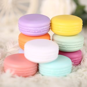 10g 0.34Oz Empty Refillable Macaron Travel Plastic Cosmetic Sample Containers with Screw Cap Jar Pot Makeup Face Cream Lip Balm Eye Shadow