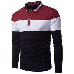 Fit Shipping Tee New Polos Spring Long Diese a manica Aurnaro Camicie da uomo Collare uomo Casual Slim Shirt GRATIS POLO JJDBX