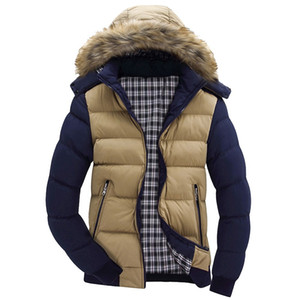 ISHOWTIENDA Hombre Chaquetas de Invierno 2018 Parka Hombres Sudaderas Con Capucha Cremallera Moda Abrigo de Invierno Ropa de Hombre Manteau Veste Homme Hiver