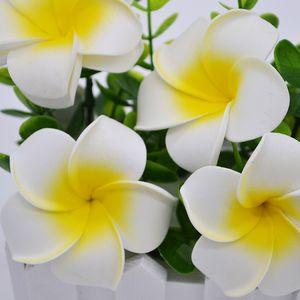 """Yeni 2 """"(5 cm) Yaz Hawaii PE Plumeria çiçek Yapay Frangipani köpük Çiçek şapkalar için Ev dekorasyon 100 adet / grup Ücretsiz Kargo"""