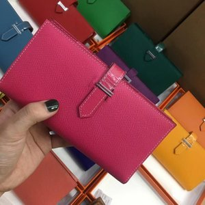 2018 Long Wallets Card holders Purse Passport Bags With Lock fashion cowhide Genuine leather wallet 8 Colors For lady woman