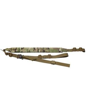 (패딩 처리) 2 포인트 MK2 슬링 빠른 조정 Airsoft Paintball Rifle Strap Hunting MC color