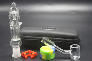10mm 14mm Glass Pipes Kit Quartz Banger Nail EGO Zipper Case Oil Rigs Glass Bongs Hand Pipes