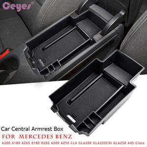 Boîte de rangement d'accoudoir central pour Mercedes Benz CLA GLA W176 Classe A A180 W246 / B180 2011-14 Organisateur de porte-conteneurs