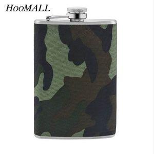 Hoomall 9 OZ Şarap Viski Hip Flask Şişe Paslanmaz Çelik Asker Ordu Askeri Açık Taşınabilir Alkol Içki Likör Şişeler