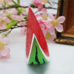 Venta caliente Lovely Rising Fruit Toys Soft Squishy Watermelon Stress Anxiety Reducer Creative Squeeze PU Juguete Decoración Del Hogar