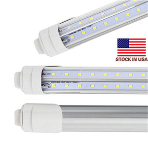 T8 LED Tube Light R17d 8ft 6FT 5FT 4FT LED V-Shape 270° Double-rows Light For cooler door 28w 72w tubes AC85-265V CE UL