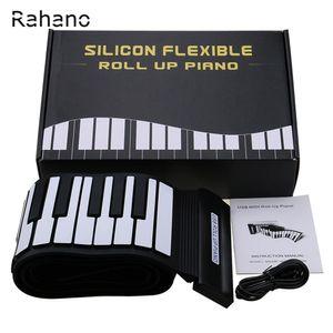 Nuovo arrivo Tastiera flessibile in silicone MIDI Roll up Electronic Piano USB 88 Tasti strumenti musicali