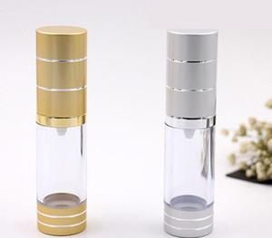 Новый многоразового использования пустая бутылка 15 мл распылитель флакон духов с распылителем 15 мл безвоздушного насоса вакуумный эмульсионный насос бутылка