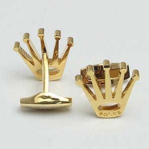Luxo design Exclusivo camisa dos homens 4 cores de ouro carimbar botão de punho de jóias de presente de Natal, opção caneta set gitt e carteira de transporte da gota