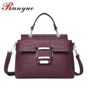 RANYUE High Quality PU Leather Women's Handbags Shoulder Bag Ladies Hand Bags Stone Casual Women Bag Large Capacity Handbag Sac