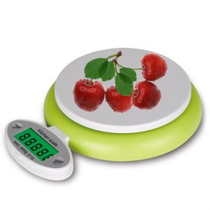 Digital Multifunzione Kitchen e Food Scale 5KG / 1g New Design Green High Precision Bilancia da cucina in plastica Scala digitale