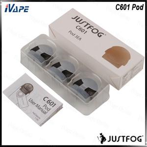 Justfog C601 Pod Kartuşu 1.7 ml Buit-in 1.6ohm Yedek Doldurulabilir Pod C601 Kiti için 100% Orijinal