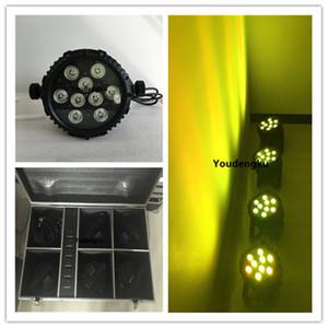 6 pz con caricabatteria 9 * 15W 5 in 1 Wireless DMX Alimentazione a batteria impermeabile LED Par light led par flat light outdoor led slim par