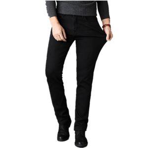 2018 Otoño e Invierno New Mens Fashion Boutique Negro Casual Jeans rectos / Hombres Stretch Jeans de negocios de color sólido Pantalones masculinos