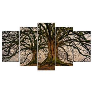 5 Panneau de toile de peinture murale Art Dead PictureTreeManager Decoration interieure Toile Salle Imprimer Peinture Art Toile