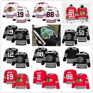 2019 Winter Classic Alex DeBrincat Jonathan Toews Patrick Kane Duncan Keith Corey Crawford Seabrook Saad Blackhawks de Chicago Hockey Maillots