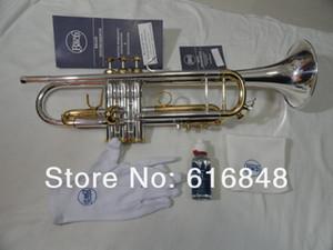 Alta calidad Bach LT180S 72 plateado plata latón Bb trompeta tecnología importada instrumentos musicales profesionales de latón con estuche
