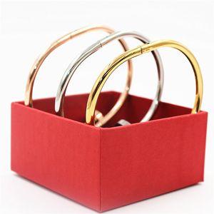 Braccialetti del chiodo di marca di alta qualità libera di trasportoBangles con i braccialetti del polsino dell'oro della rosa di pietra Braccialetti YX023 dei gioielli dell'acciaio inossidabile