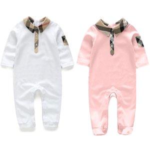 Новая Мода Новорожденных Малышей Младенцев Мальчиков Ползунки С Длинным Рукавом Комбинезон Playsuit Маленький Мальчик Наряды розовый Одежда