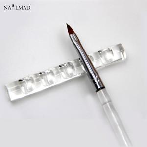 1 adet Tırnak Fırçası Standı Akrilik Kristal Fırça Tutucu Raf Temizle Standı Tutucu Tırnak Kalem Araçları Ekran Istirahat Araçları