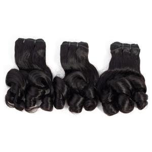 9A Funmi Hair Bundles Rose Curly Virgin Indian Brasileño Peruano Malaysian Hair Bundles 10-20inch Extensiones de cabello humano Color natural 3 piezas