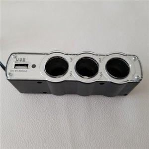 1 à 3 diviseur de voiture 0120 allume-cigarette avec convertisseur de charge de puissance poreuse USB
