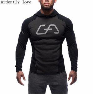 Regular Gyms Hoodies Hombre Mantel Bodybuilding Und Fitness Hoodies Sudaderas Muscle Herren Mens Sportswear New Male Fashion