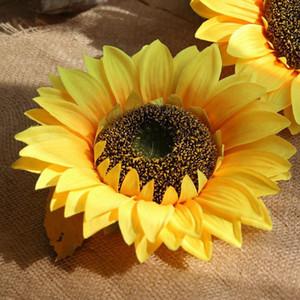 Simülasyon ayçiçeği çiçek kafa düğün buket tatil parti dekorasyon yapay çiçek bitki duvar süs doğum günü hediyesi