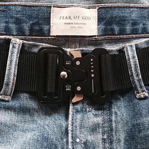 FOG Fear Of God Quattro tipi ALYX Belt Roller Coaster BELT Bottone in metallo Unisex Hip Hop Swag Uomini di marca Cintura donna HFLSYD002