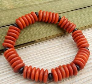 Natürliche South Red Achat Armband Armbänder Männer und Frauen Abacus Perlen Armband Rot Achat Flachen Kristall einzigen Ring Armband