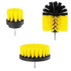 3Pcs 2 / 3.5 / 4 pollici giallo trapano elettrico pennello piastrelle grout potenza scrubber vasca spazzola di pulizia