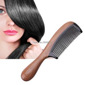 Pro Doğal Öküz Boynuz Yeşil Sandal Ağacı Kokulu Tarak Ahşap Saplı Combs Saç Bakımı-B118