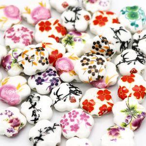 Haute Qualité 1000 pcs Pas Cher 15 * 6mm Ceremic Perles En Porcelaine Applique Céramique Perles Rondes Fit Pour Bijoux Bracelet Collier DIY Résultats