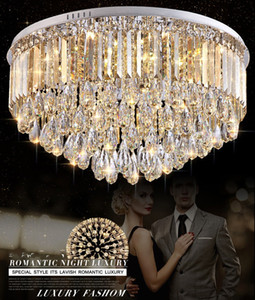 Crystal lamp round modern minimalist living LED ceiling Light bedroom lamp study lamp