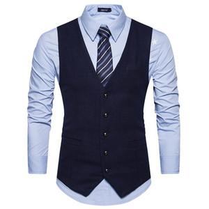 남성 조끼 브랜드 남성 양복 클래식 울 영국 비즈니스 정장 조끼 남성 웨딩 신랑 들러리 가수 옷 고급 뜨거운 판매