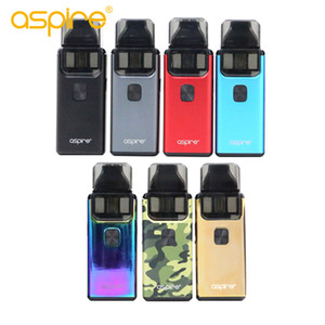 Authentic Aspire Breeze Kit 2 com brisa 2 pod Atomizador 3 ml / 2 ml Built-in bateria 1000mAh AIO cigarros e 100% Original