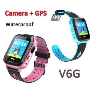 IP67 À Prova D 'Água GPS Crianças Relógio Inteligente V6G com Câmera Lanterna SOS Chamada Localização Touch Screen Anti-Perdido Monitor Rastreador Bebê Smartwatch Q50