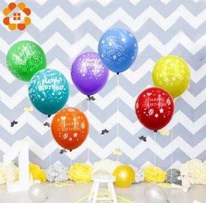 20 teile / los Bunte Alles Gute Zum Geburtstag Luftballons Dekoration Hochwertige Latex Ballon Für Kinder Erwachsene Geburtstag Party Decor Liefert