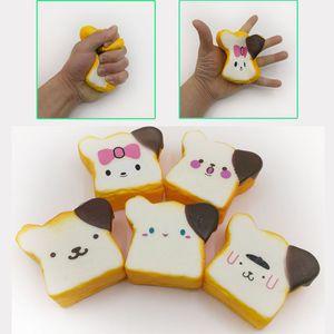 Rebond lent Toast Pain Kawaii Squishy Jouets Simulé nourriture 9CM Jumbo Squishies squeeze Décompression Toy cadeau enfants