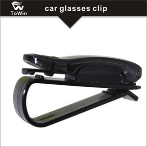 Caja de almacenamiento de gafas para el parasol del coche, gafas de sol universales Gafas de sol Estuche de almacenamiento de gafas de ojo Caja con soporte de tarjeta para Sunvisor