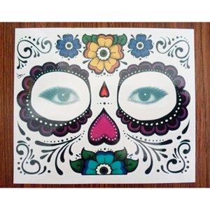 Festa de natal Dia Facial dos Mortos Enfrentou Tatuagem Halloween e Masquerade Bola Deve Tatuagem Adesivo À Prova D 'Água Faced Tatuagem Novo 3006089