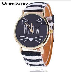 Dropshipping Moda Güzel Miyav Kedi İzle Casual Kadınlar Kol Saati Lüks Kuvars İzle Relogio Feminino Hediye Saat
